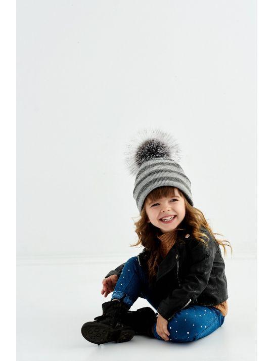 Зимові дитячі шапки
